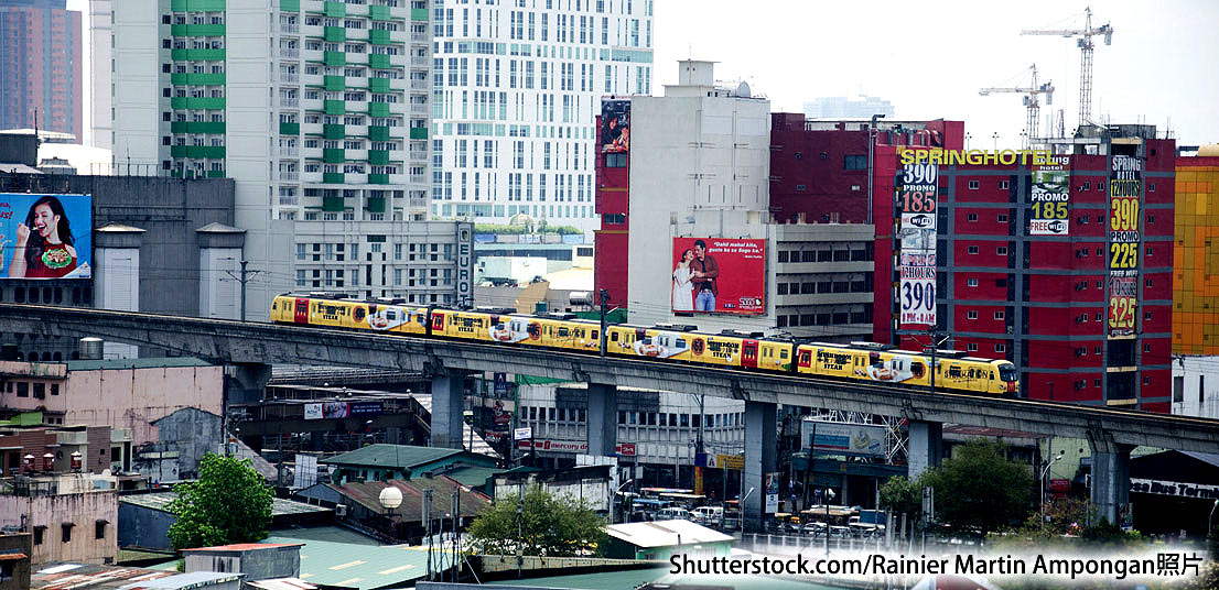 照片:菲律宾获「一带一路」资金以改善全国铁路系统。(Shutterstock.com_Rainier Martin Ampongan)