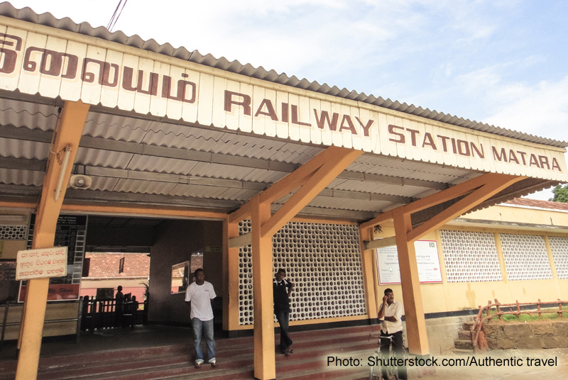 Photo: The Matara Railway Station: No longer the end of the line for Sri Lankan travellers. (Shutterstock.com/Authentic travel)
