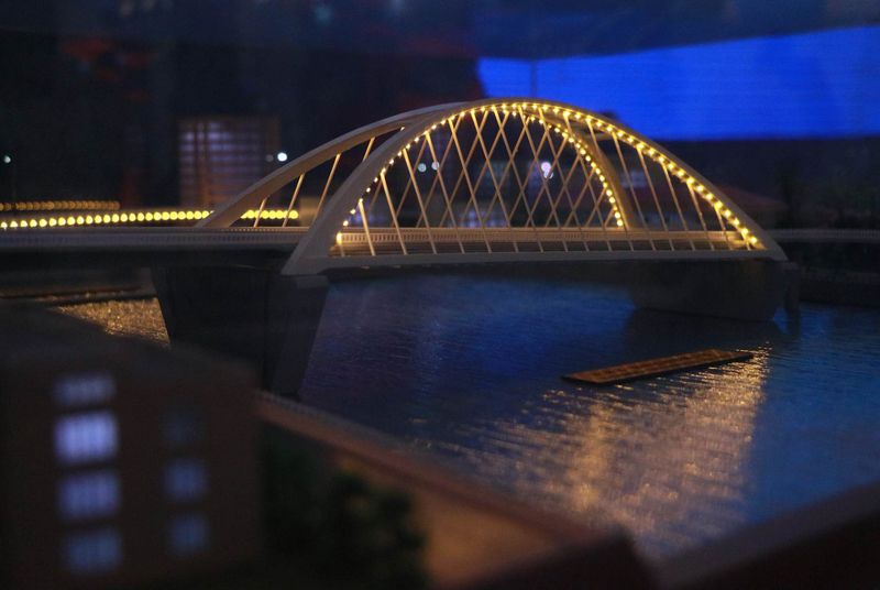Photo: Newly-linked: The China-Philippines Binondo-Intramuros bridge project.