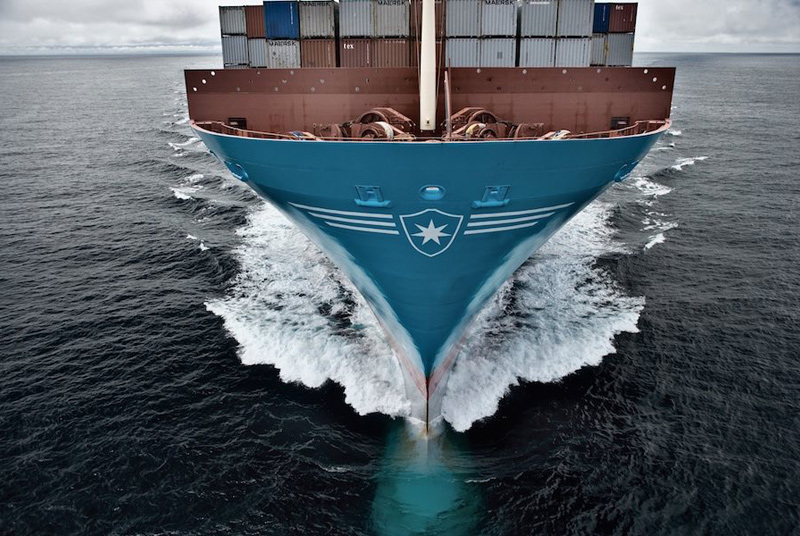 Photo: Venta Maersk: Coldly going where no container ship has gone before.