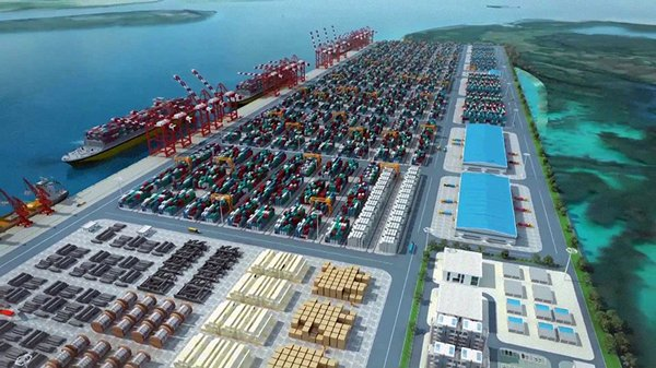 Photo: The Kyaukphyu deep-sea port: A win-win prospect mired in contractual wrangling.