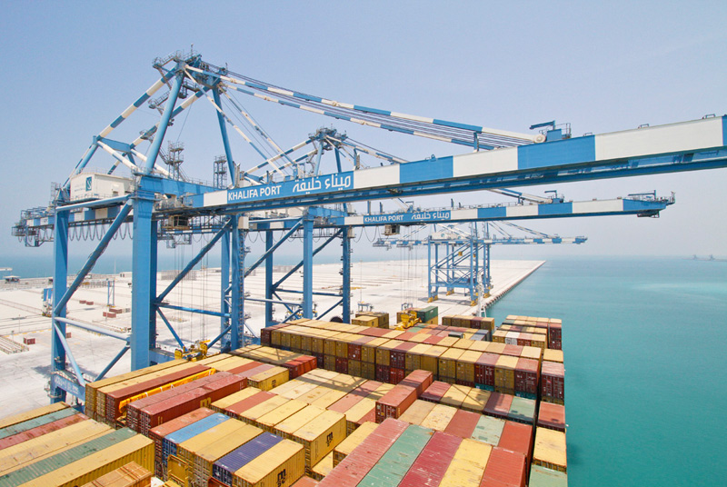Photo: The expanded Khalifa Port: Welcomed as geographically strategic and somewhat timely.