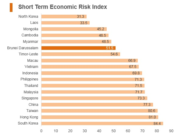Graph: Brunei short term economic risk index