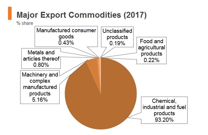 Graph: Brunei major export commodities (2017)