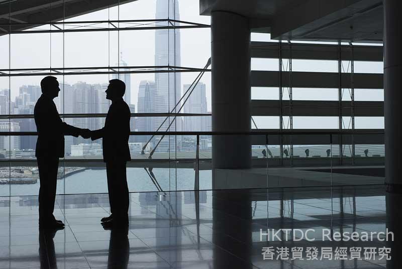 图:「一带一路」发展将进一步刺激内地企业对香港服务的需求。