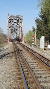 Photo: Rail tracks at Záhony.
