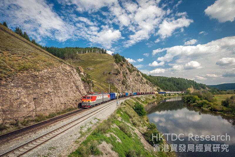 Photo: Rail service has become a freight shipping option for China-Europe trade.
