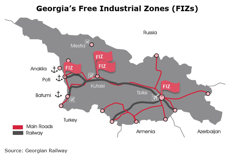 Picture: Georgia Free Industrial Zones (FIZs)