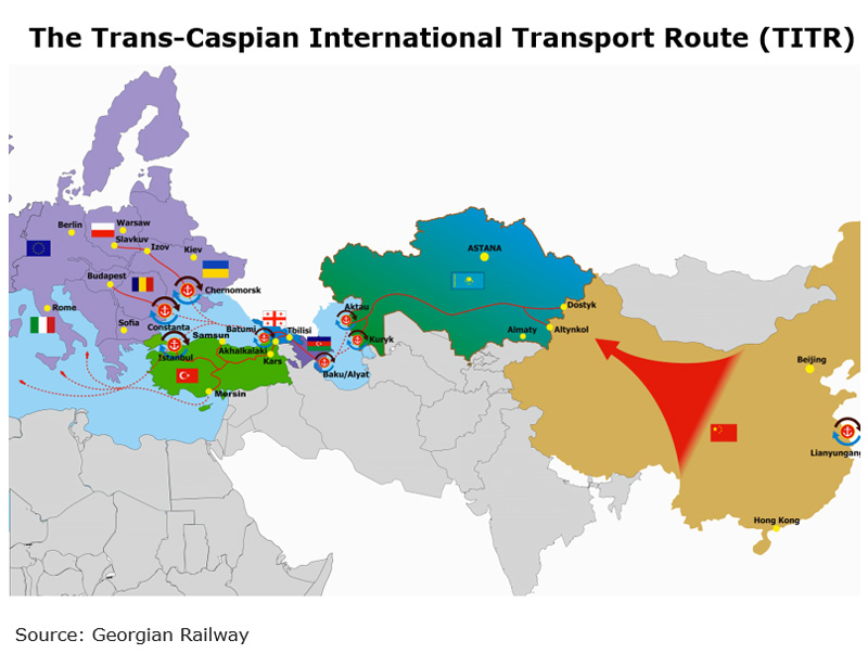 Picture: The Trans-Caspian International Transport Route (TITR)