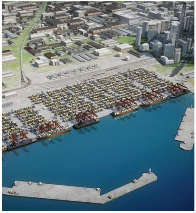 相片:阿納克利亞深水港和經濟特區項目標誌著格魯吉亞開始轉型為區域物流和工業樞紐。