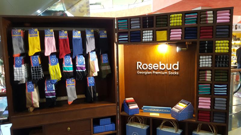 相片:Rosebud是格魯吉亞的初創襪子品牌,原本是buyers.ge一家網上商店,現已擴充發展,在多家商場設店。