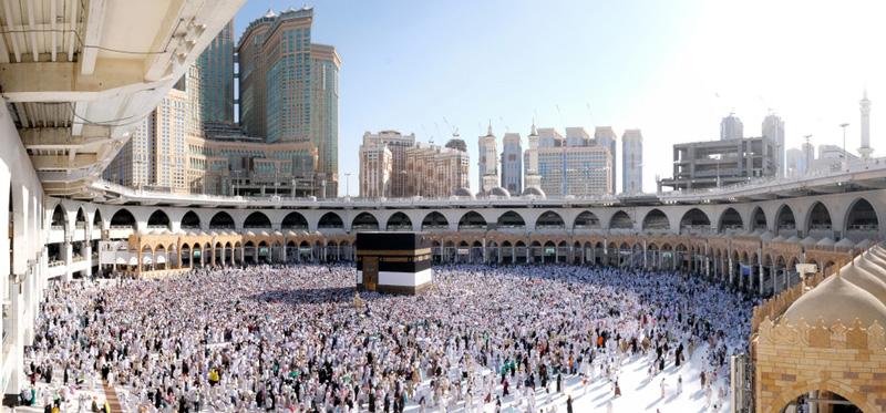 相片: 每年朝覲期間,麥加的大清真寺都會聚集大批穆斯林朝聖者。