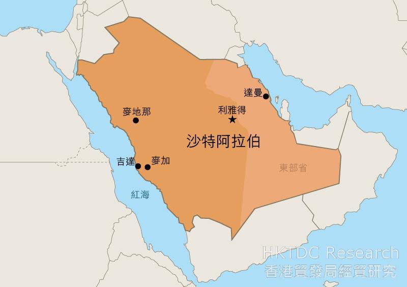 地圖: 沙特阿拉伯