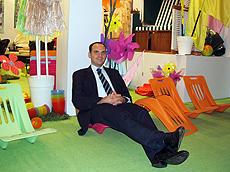 Seifert展示Dahlmann的沙滩椅