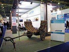 Exitcom以废弃晶片制成的拖车。