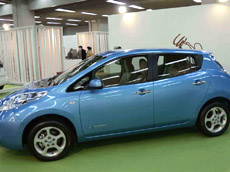 Nissan Leaf electric car.