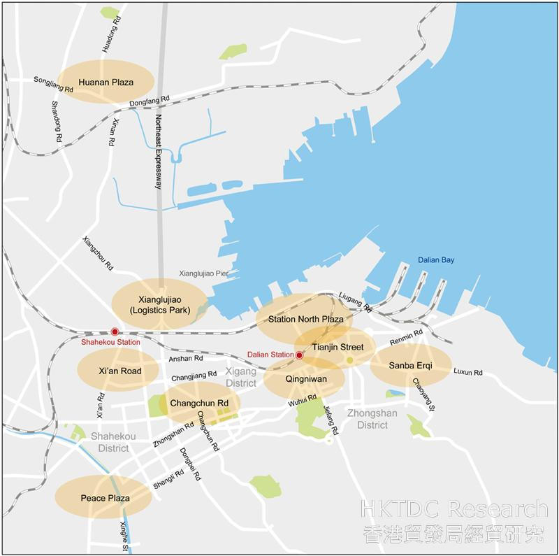 Picture: Dalian's Major Commercial Districts