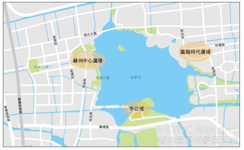 图:苏州市内主要商圈