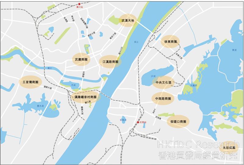 图:武汉市主要商圈