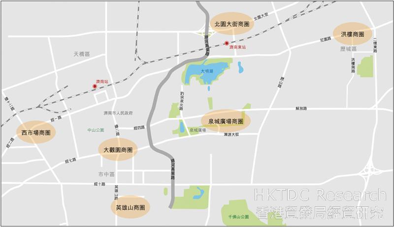 图:济南市内主要商圈