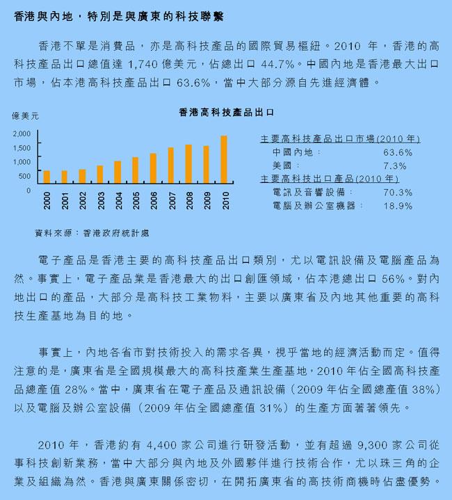 香港与内地,特别是与广东的科技联系