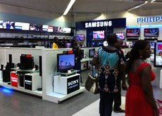 Photo: Consumer electronics section in a shopping mall
