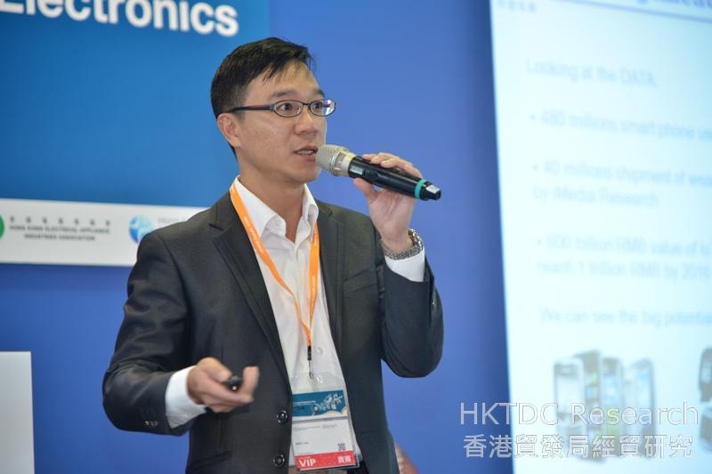 相片:劉秉璋預期智能家居將是物聯網主要應用範疇之一。