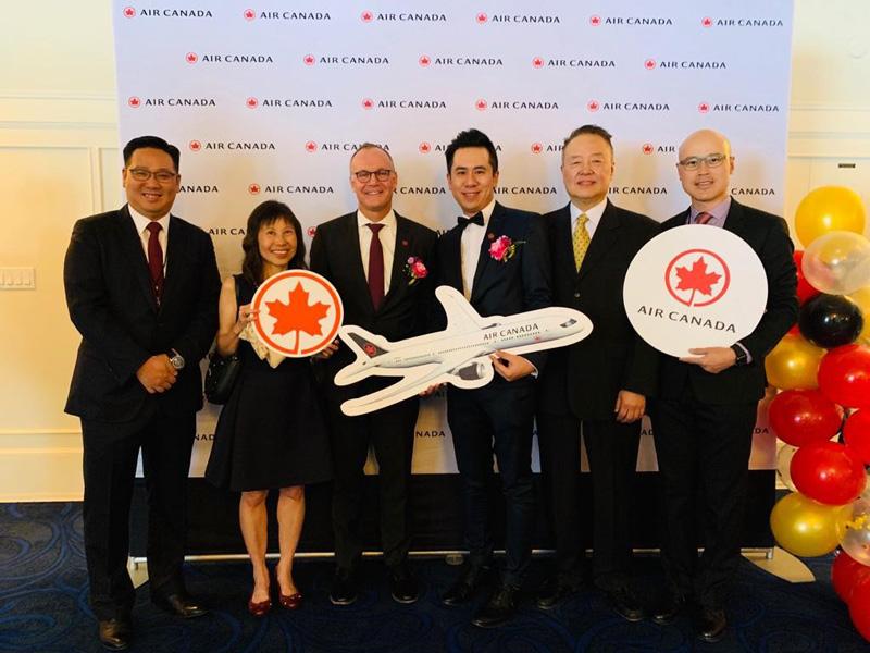 相片:加航香港及南中國區總經理林漢基(左四)表示,公司越來越看好大灣區的航空發展潛力。