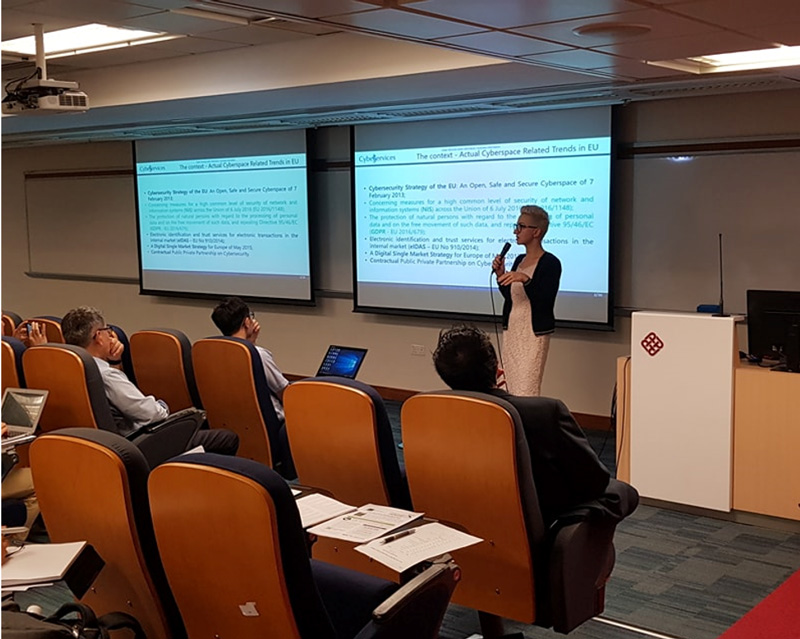 Photo: Cyber Services has been conducting data security seminars in Hong Kong.