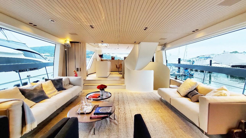Photo: Stratton: A super-yacht is just like a floating hotel.