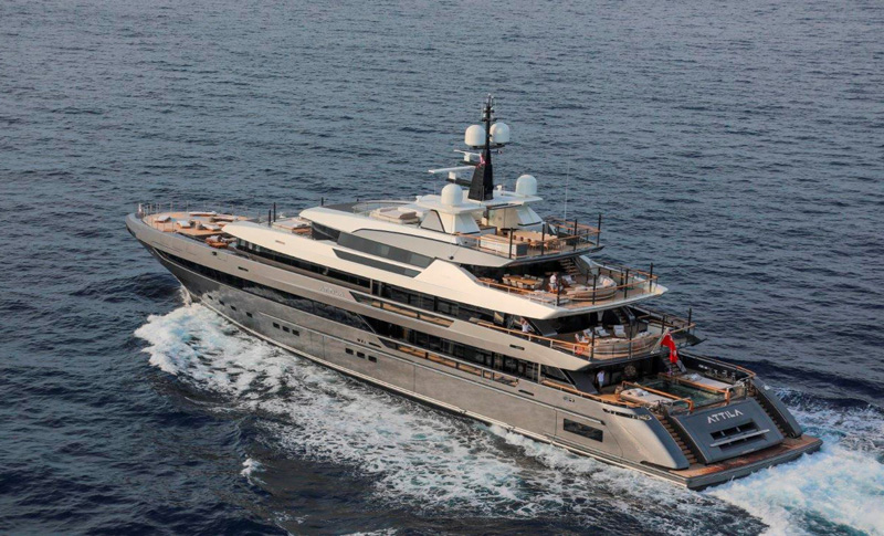 相片: 64Steel Attila是圣劳伦佐的旗舰产品,在今年摩纳哥游艇展首次亮相。