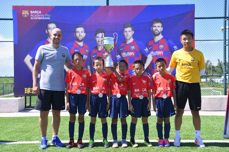 相片: 巴塞足球学院中国杯于2019年7月在海口举行,共有中国内地5所足球学校的代表参赛。