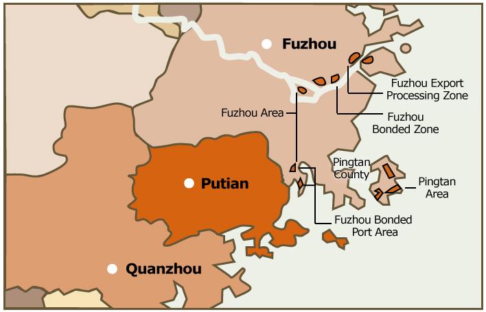 Picture: FJFTZ Fuzhou and Pingtan area