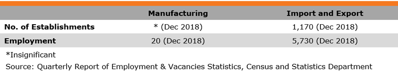 Table: Industry Features (Footwear Industry)