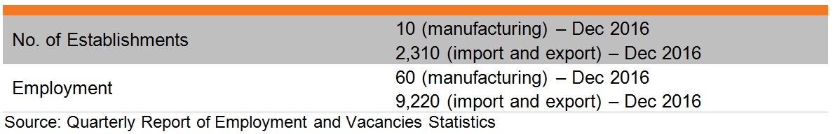 Table: Industry features of leather consumer goods industry