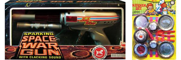 (左至右)火花枪及煮饭仔玩具