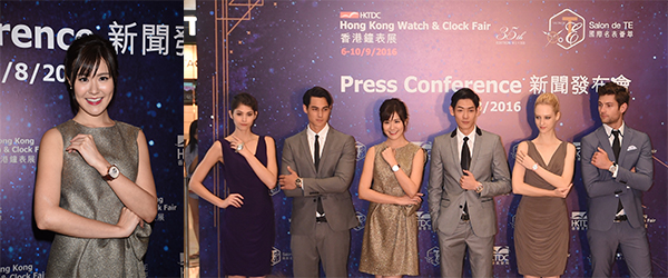 著名香港艺人刘佩玥与多位模特儿