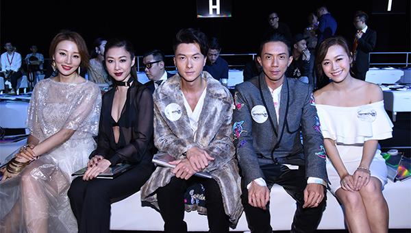 (左起)名模陈嘉容、知名艺人胡定欣、王浩信、张继聪及黄心颖。