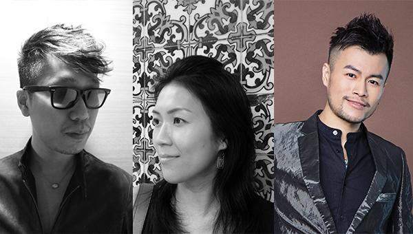 (左起)香港知名时装设计师张国威、何善恒及任铭晖