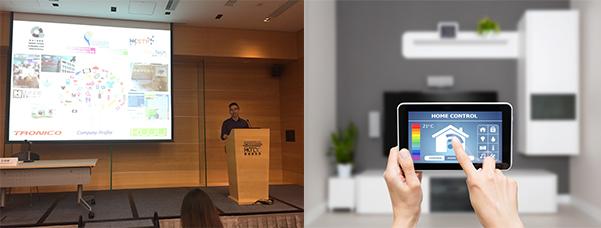 (左)创力高科技有限公司业务发展经理李伟杰