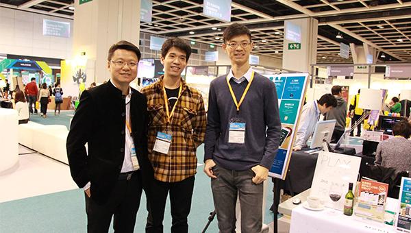 (左一)Axon Labs行政总裁覃绍礼