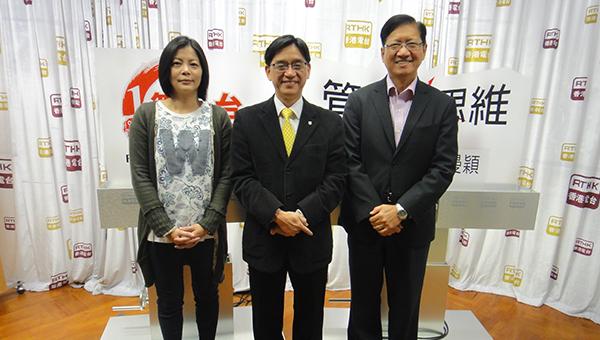 叶泽恩(右一),陈志辉(中)及罗曼颖