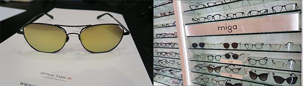 平面型态的镜片及椭圆形的镜框
