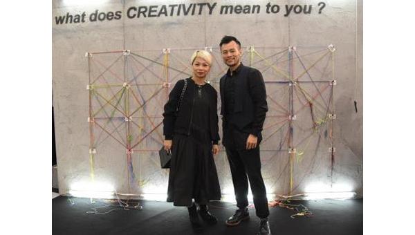 刘玉翠(左)及香港设计师任铭晖(右)合照