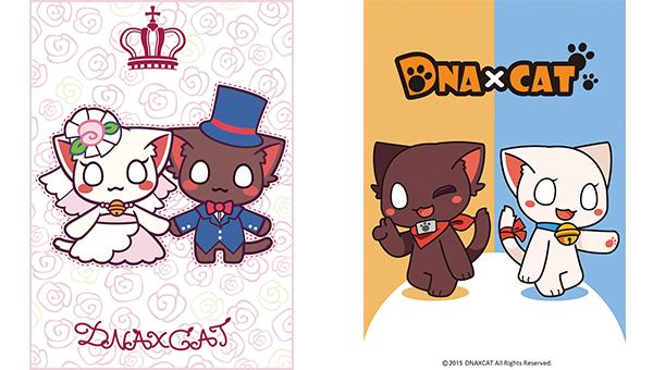 品牌以黑白两只猫为设计的基本概念