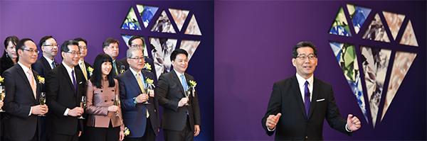 第4届香港国际钻石、宝石及珍珠邀得香港特区政府商务及经济发展局局长苏锦梁担任展览开幕酒会的主礼嘉宾