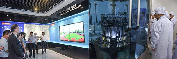 (左图)牡丹江规划馆;牡丹江友博药业