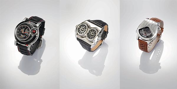 (左至右)第34届香港钟表设计比赛公开组冠亚季作品