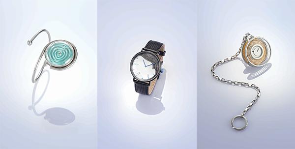 (左至右)第34届香港钟表设计比赛学生组冠亚季作品