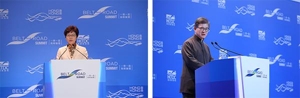 (左图)林郑月娥;(右图)罗康瑞